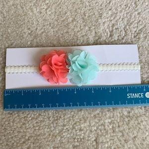 "Baby Flower Headband ~16"" diameter NWOT"